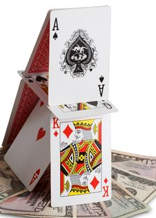 Free House Of Cards And Money Stock Photos - 15503783