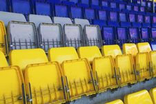 Armchairs  At The Stadium Stock Image