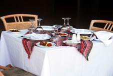 Table For Dinner Stock Photos