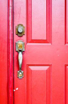 Free Red Door Stock Photography - 15504342