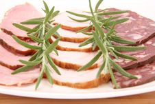 Free Plate Of Assorted Cold Cuts Stock Photography - 15504812