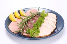 Plate Of Assorted Cold Cuts Royalty Free Stock Images