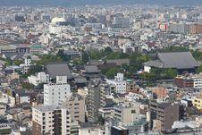 Free Kyoto Bird S Eye View Stock Photo - 15505730