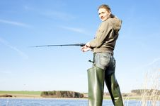 Free Fishing Woman Stock Photography - 15505912