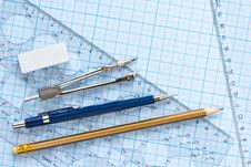 Free Drawing Tools Background Royalty Free Stock Photography - 15506087