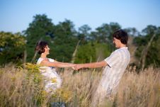 Free Pregnant Dance In Park With Husband Stock Photo - 15506200