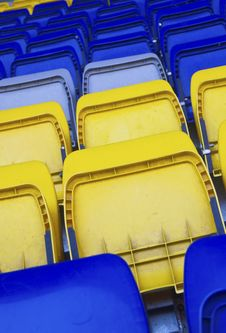 Armchairs  At The Stadium Stock Photography