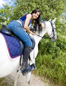 Equestrian On Horseback Stock Image