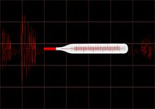 Vector Illustration The Cardiogram Stock Image