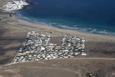 Aerial Of Village Of Famara Royalty Free Stock Image