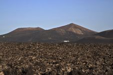 Free Volcanic Landscape In National Park Timanfaya Royalty Free Stock Image - 15508426