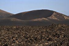 Free Volcanic Landscape In National Park Timanfaya Stock Image - 15508461