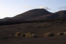 Free Volcanic Landscape In National Park Timanfaya Royalty Free Stock Image - 15508536