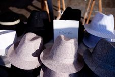 Male Hats On Sale Stock Image