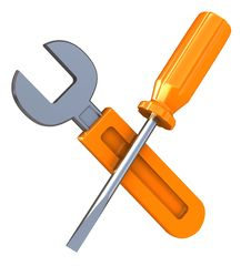 Free Wrench And Screwdriver Stock Image - 15509461