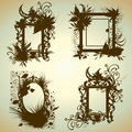 Free Vector Set Of Vintage Frames Royalty Free Stock Photos - 15512188