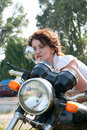 Free Motorcycle Girl Royalty Free Stock Photography - 15516287