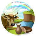 Free Milk And Cow Stock Photo - 15518930