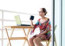 Free Woman With Laptop Stock Photo - 15510140