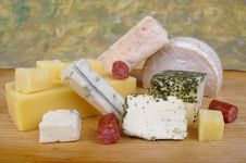 Free Cheese Antipasto Varieties Royalty Free Stock Photos - 15510188