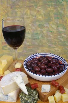Free Cheese And Wine Royalty Free Stock Photo - 15510215