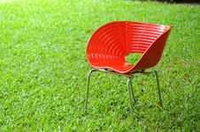 Free Red Chair Stock Photo - 15510370