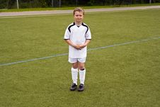 Free Young Proud Soccer Player Royalty Free Stock Photo - 15511115