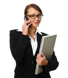 Free Attractive Brunette Business Woman Royalty Free Stock Image - 15511216