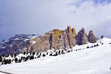 Free Dolomite Mountains, Sella Pass Stock Images - 15511224