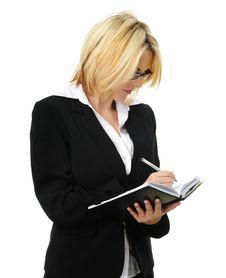 Free Business Woman Writing Stock Photo - 15511230