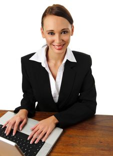 Free Attractive Brunette Business Woman Smiles Stock Photos - 15511233