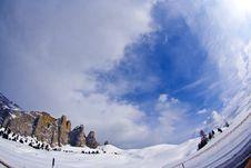 Dolomite Mountains, Sella Pass Stock Photos
