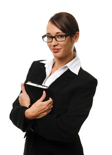 Free Attractive Brunette Business Woman Royalty Free Stock Images - 15511249