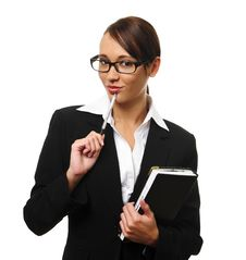 Free Attractive Brunette Business Woman Royalty Free Stock Image - 15511256