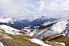 Dolomite Mountains, Sella Pass Royalty Free Stock Photos