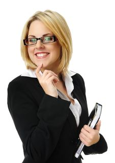 Free Pretty Blonde Business Woman Stock Photo - 15511290