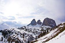Free Dolomite Mountains, Sella Pass Stock Photo - 15511330