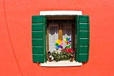 Free Colorful Window In Burano Stock Images - 15511414