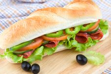 Free Homemade Sandwich Royalty Free Stock Photography - 15511717