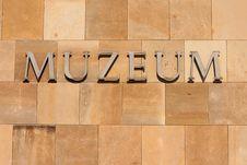 Free Museum Inscription Royalty Free Stock Photo - 15512025
