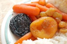 Stewed Carrots With Rice Royalty Free Stock Images