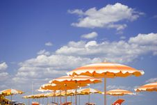 Free Beach Umbrellas. Royalty Free Stock Images - 15512699