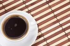 Coffee At Wood Table Stock Photography