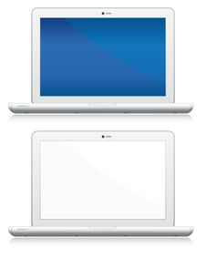 Laptop Set Stock Photo