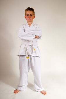 Free Boy With Attitude In Karate Suit Royalty Free Stock Image - 15513936
