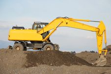 Free Yellow Bulldozer Royalty Free Stock Photos - 15513958