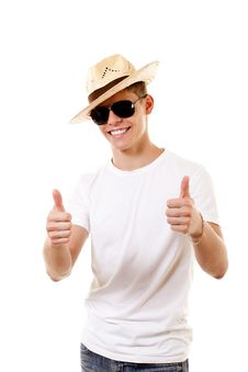 Free Merry Lad In Hat Stock Photos - 15515433