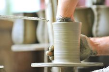 Free Making Of A Ceramic Vase Stock Images - 15515534