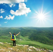 Free Tourist In Mountain Stock Photo - 15515900
