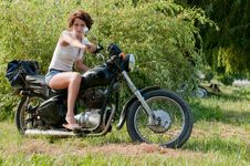 Free Motorcycle Girl Royalty Free Stock Image - 15516306